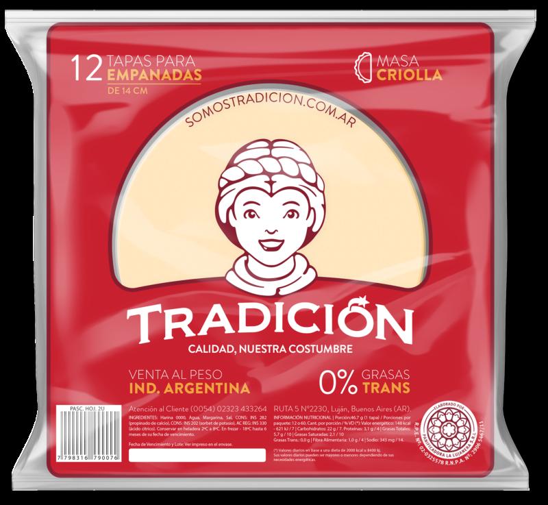 Tapas para empanadas criollas
